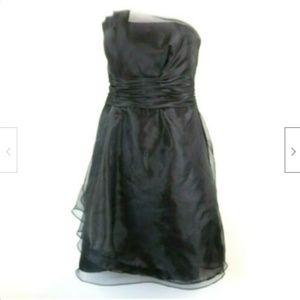 Davids Bridal Womens Dress Short Strapless Organza